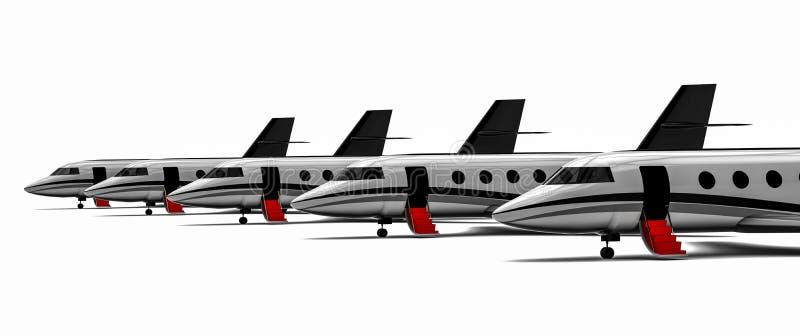 Flotte de jet privé illustration libre de droits