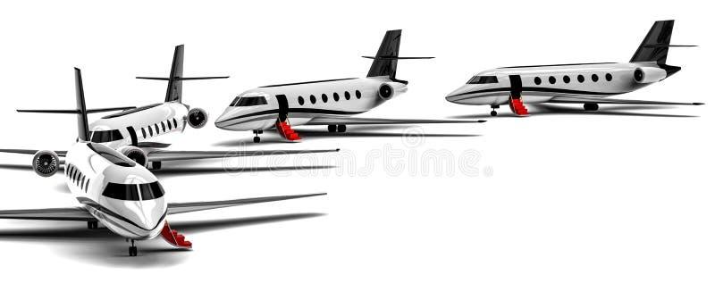 Flotte de jet privé en cercle illustration de vecteur