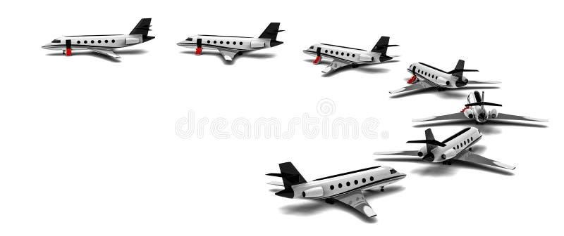 Flotte de jet privé en cercle illustration libre de droits