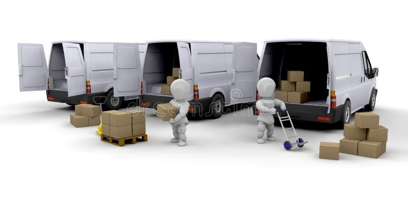 Flotte de la distribution illustration libre de droits