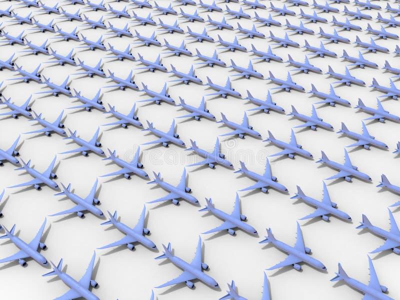Flotte sans fin d'avions illustration de vecteur