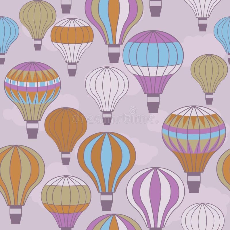 Flottement chaud coloré de ballons à air illustration stock