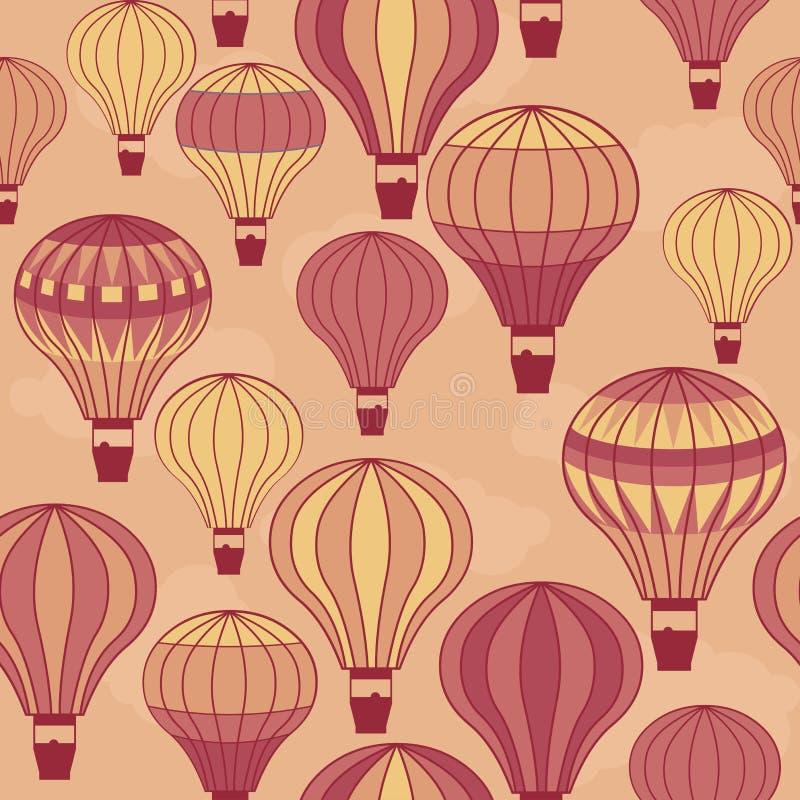 Flottement chaud sans couture de ballons à air illustration stock