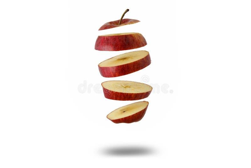 Flottement découpé en tranches de pomme photo stock