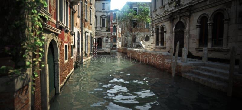 Flottement dans le canal de l'architecture romantique enchanteresse et des voies d'eau de l'Italie photographie stock libre de droits