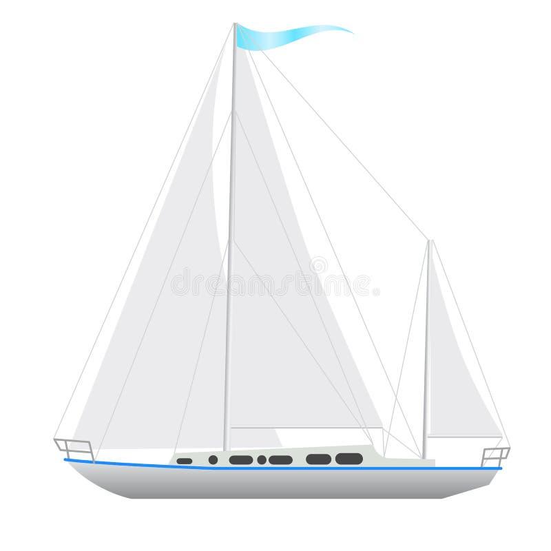 Flottement de bateau à voile. illustration stock