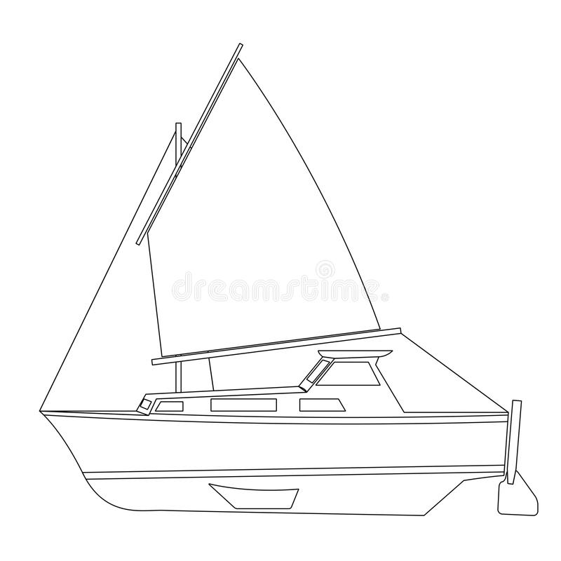 Flottement de bateau à voile illustration stock