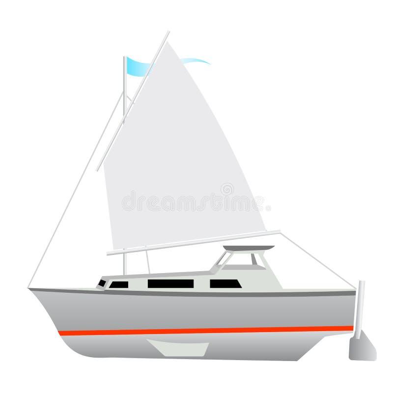 Flottement de bateau à voile illustration libre de droits