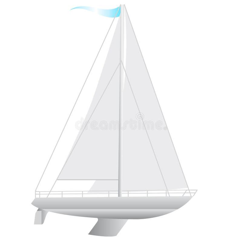 Flottement de bateau à voile. illustration de vecteur