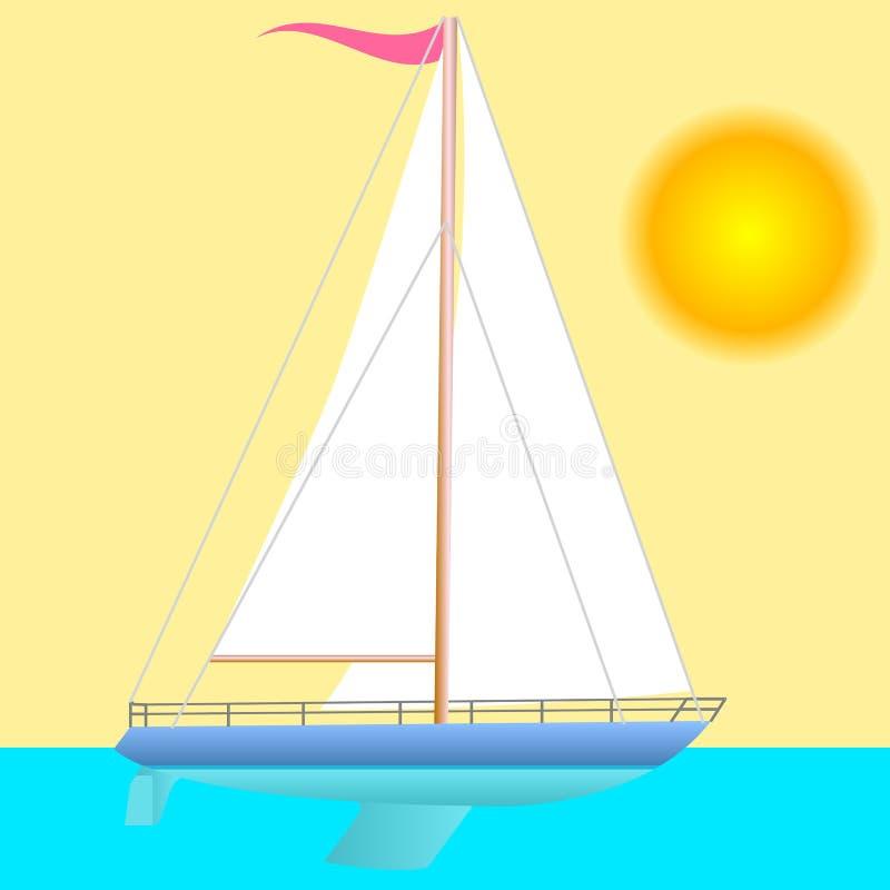 Flottement de bateau à voile. illustration libre de droits