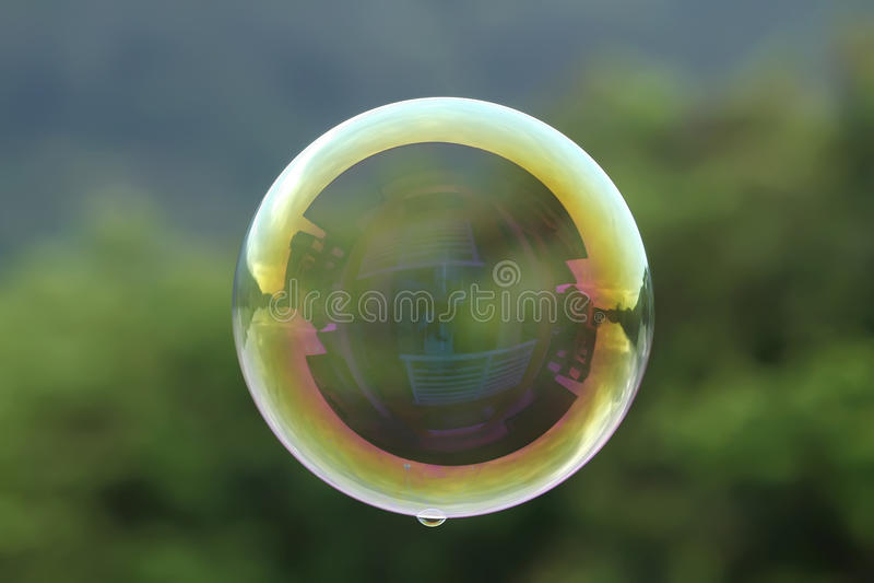 Flottement de bulle photo stock