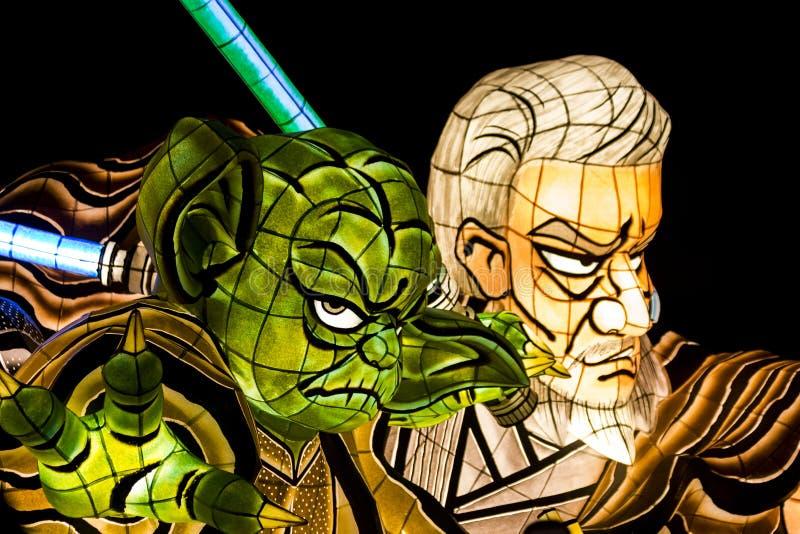 Flotteur de défilé de Nebuta de Star Wars photo libre de droits