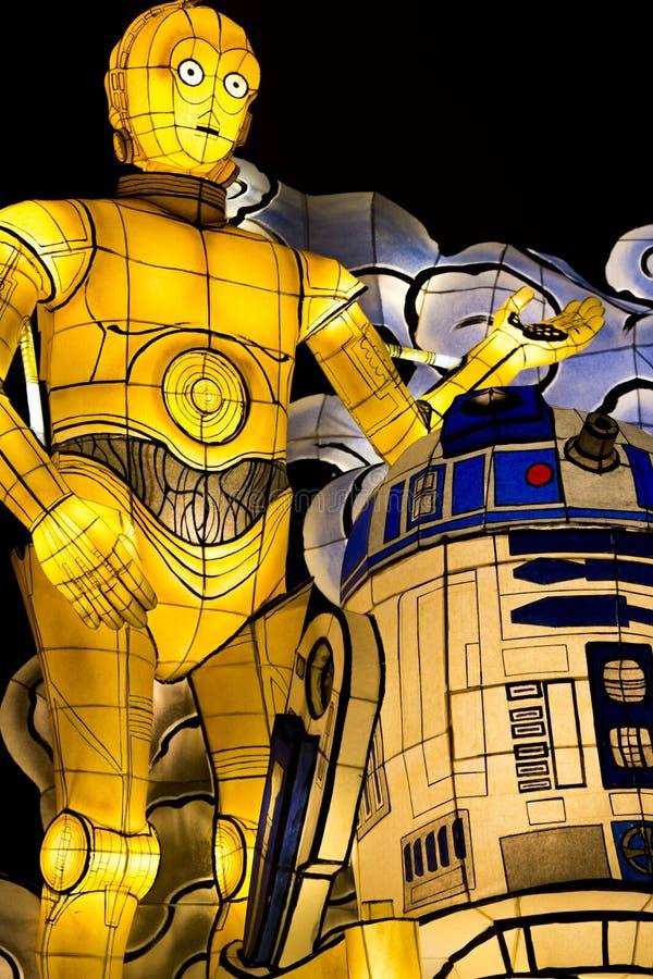 Flotteur de défilé de Nebuta de Star Wars photographie stock libre de droits