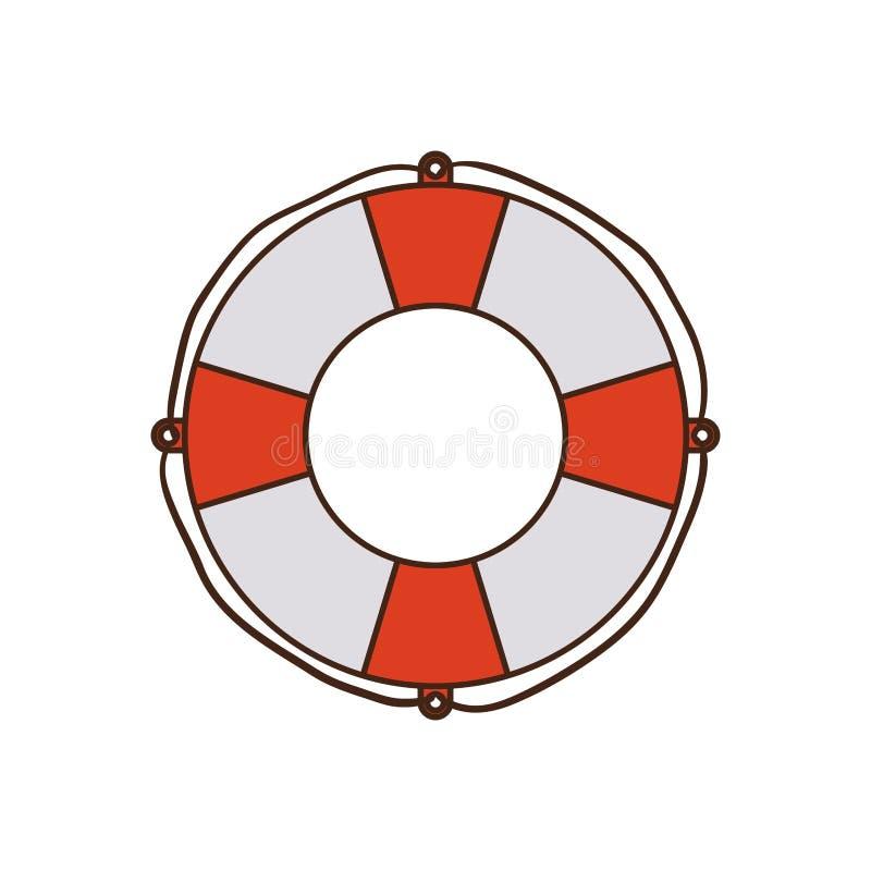 Flotteur de sauvetage à l'arrière-plan blanc illustration libre de droits