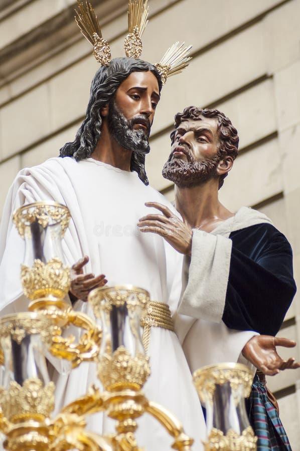 Flotteur du Christ de la confrérie de photographie stock libre de droits