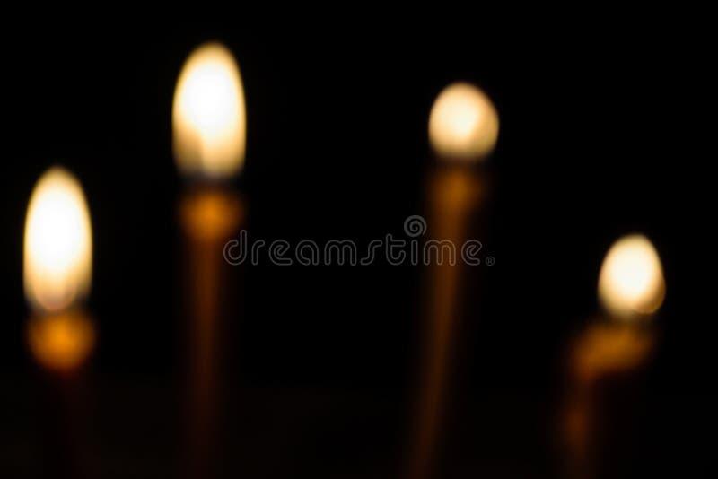 Flou léger de bougie photo libre de droits