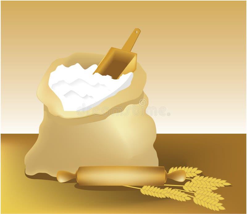 Download Flour stock vector. Image of baker, cake, sack, bread - 12125657