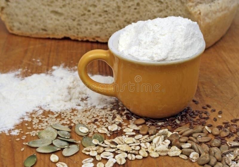 Flour, crops and seeds stock photos