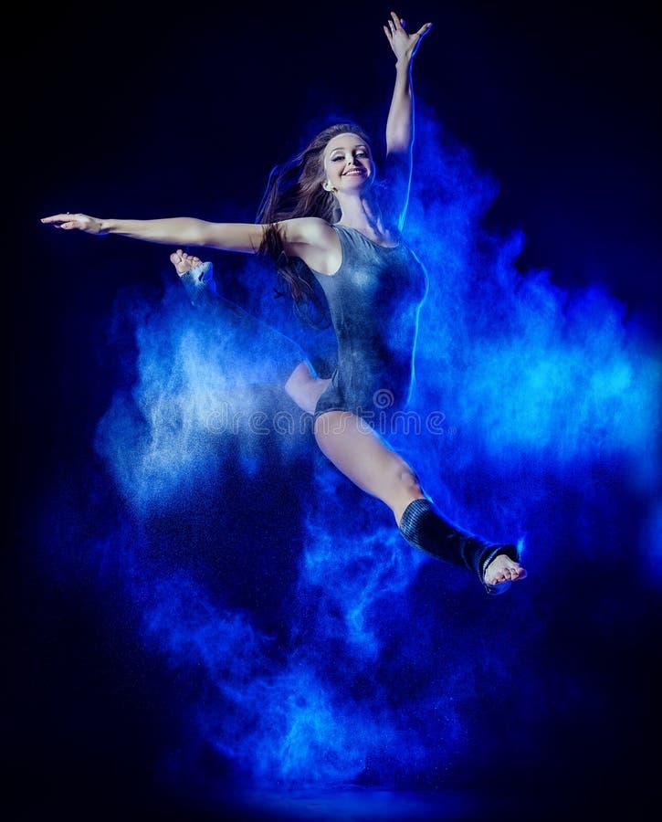Flour dance stock photos