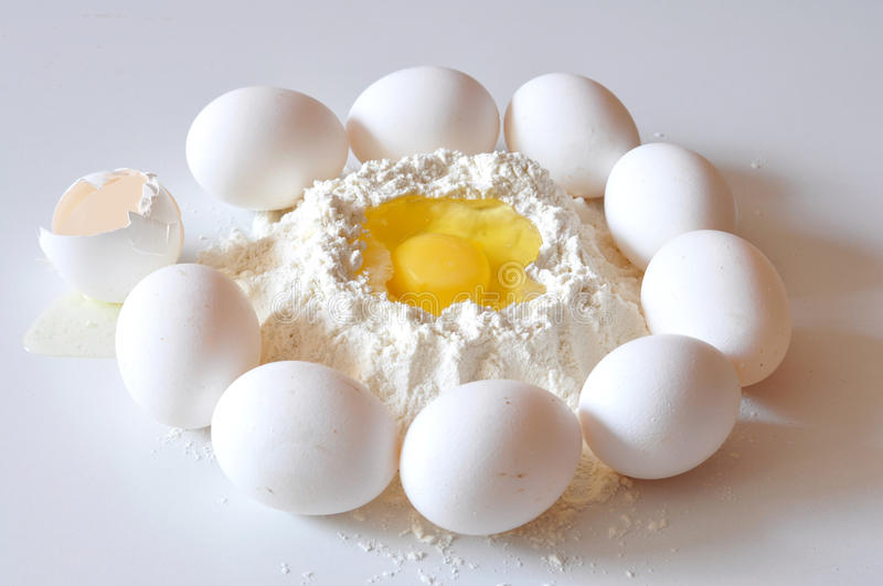 Download Flour And Eggs Royalty Free Stock Photography - Image: 16031737