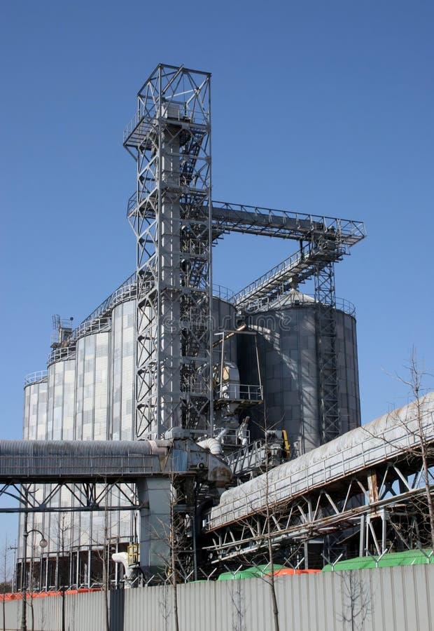 Flour mill. At Mokpo, South Korea royalty free stock photos