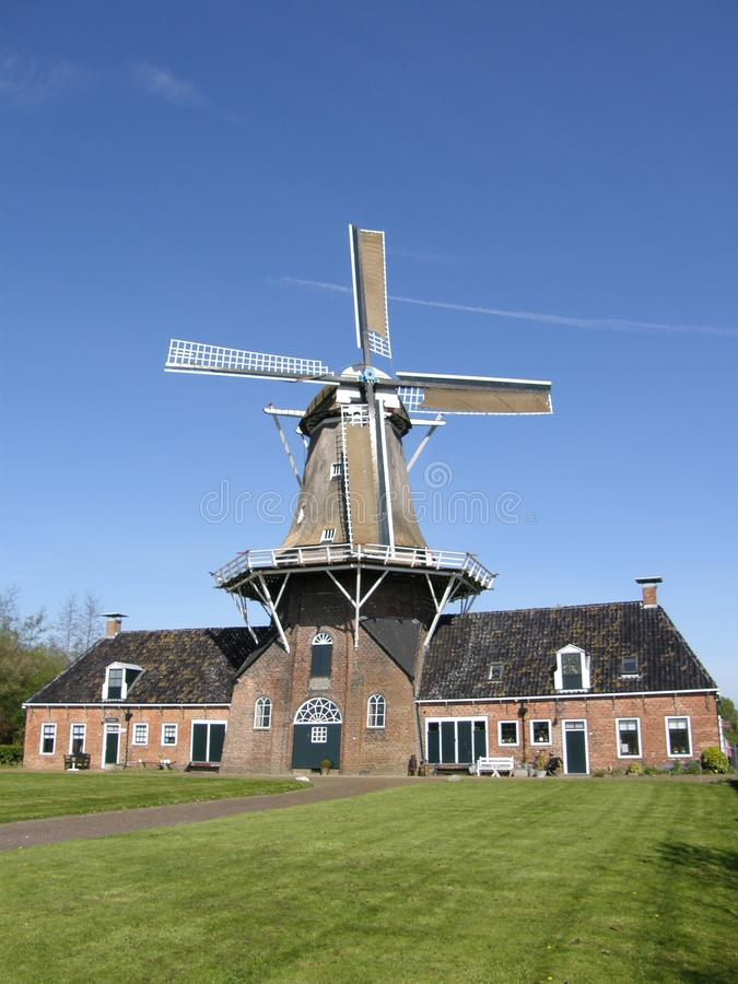 Flour mill. A flour mill near Roden (Netherlands) that you can visit royalty free stock photos