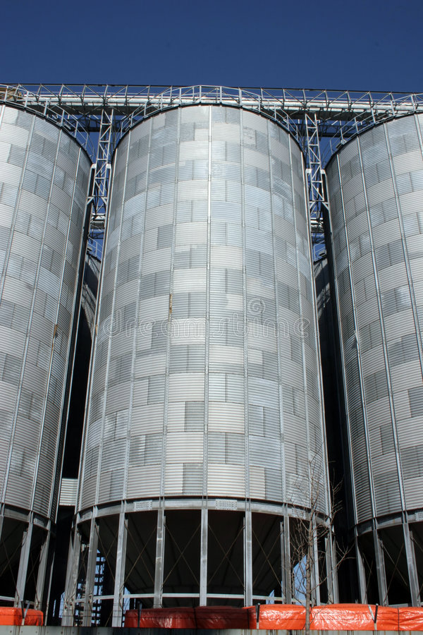 Flour Mill Silos Royalty Free Stock Images