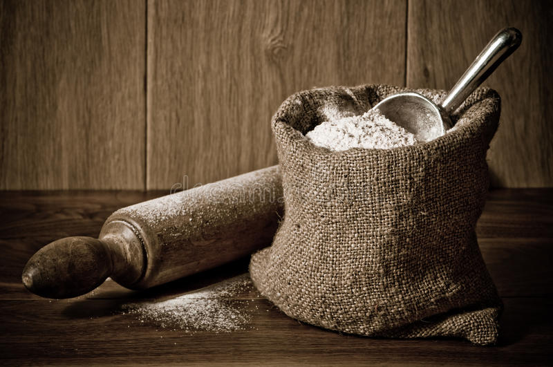 Download Flour Sack stock image. Image of kitchen, wooden, rolling - 13478977