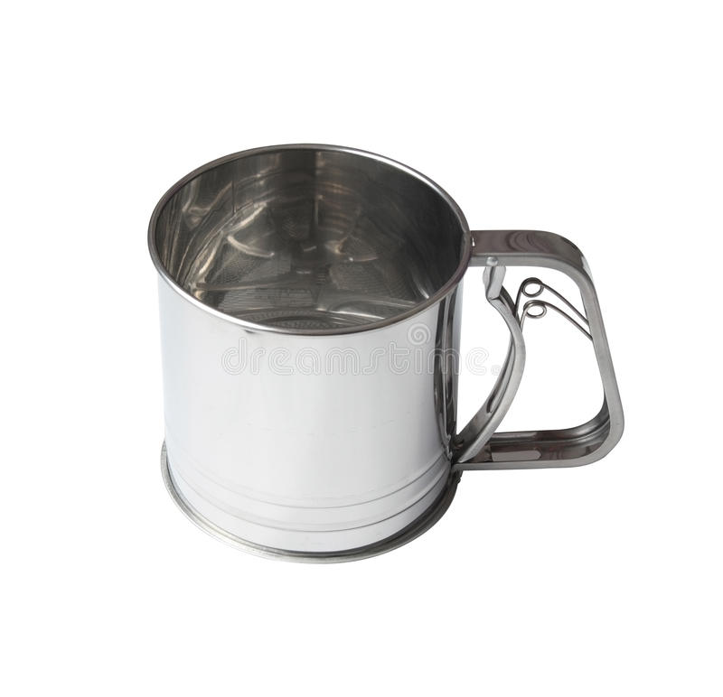 Flour sieve. Sieve for flour isolated over white background clipping path included stock images