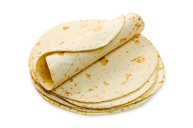 Flour tortillas stock photos