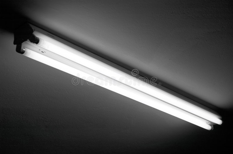 flourescent światło fotografia stock