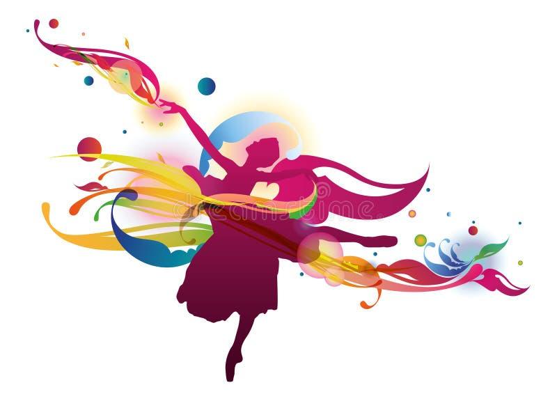 flourish балерины иллюстрация вектора
