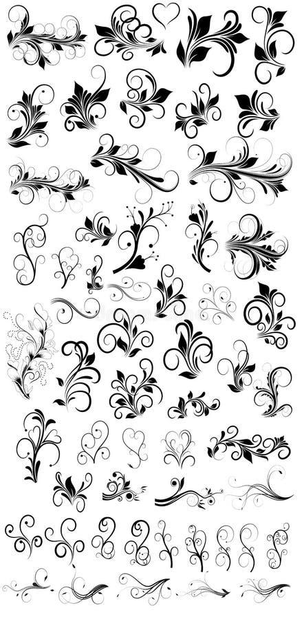 Flourish конструирует векторы иллюстрация вектора