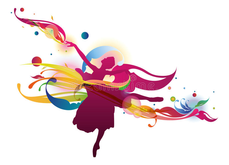 Flourish Ballerina vector illustration