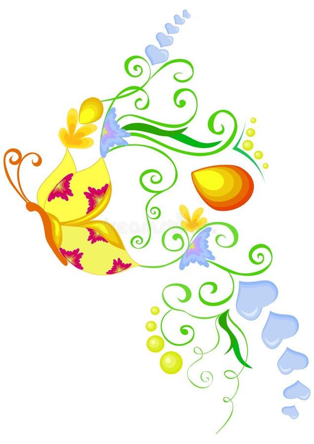 Flourish da borboleta ilustração royalty free