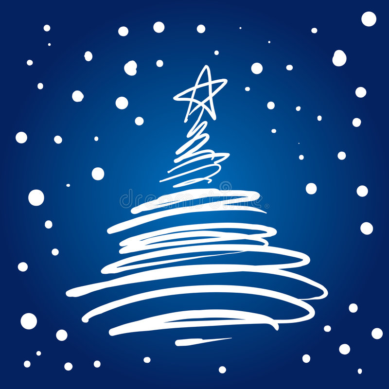 Flourish dell'albero di Natale (illustrazione) royalty illustrazione gratis