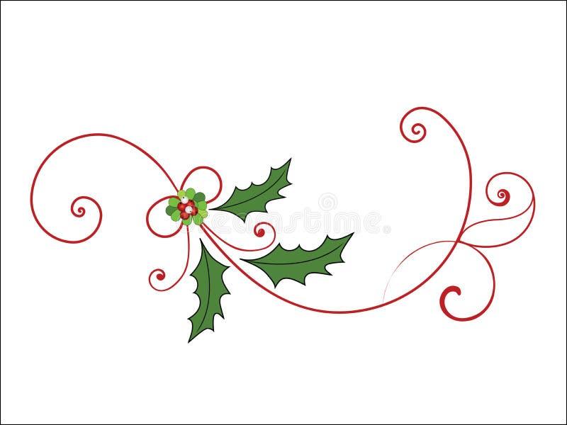 Flourish elegante de la Navidad libre illustration