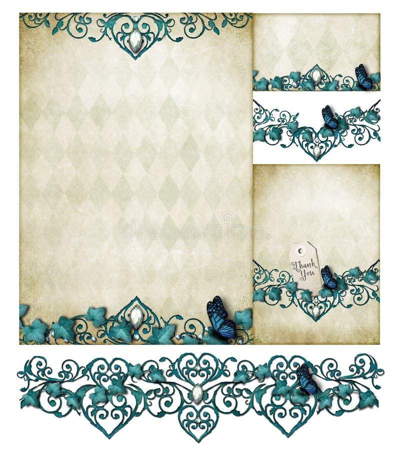 Download Flourish invitation set stock illustration. Illustration of romantic - 25823528
