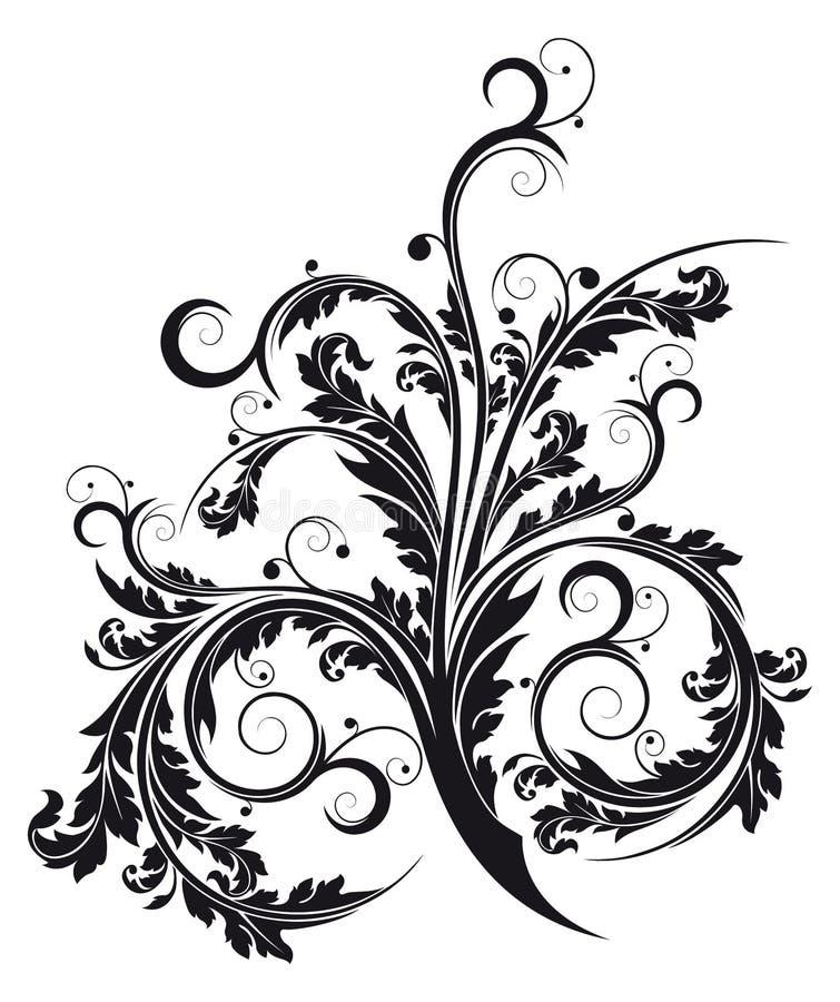 Flourish isolado sumário ilustração stock