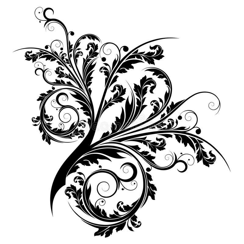 Flourish isolado sumário ilustração royalty free