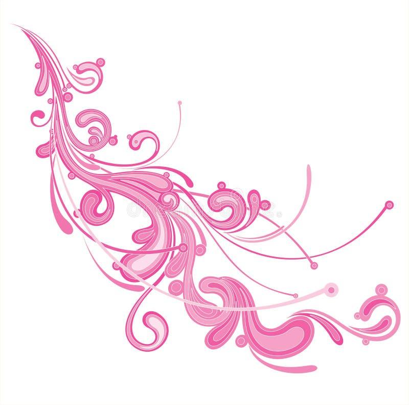 Flourish rosado stock de ilustración