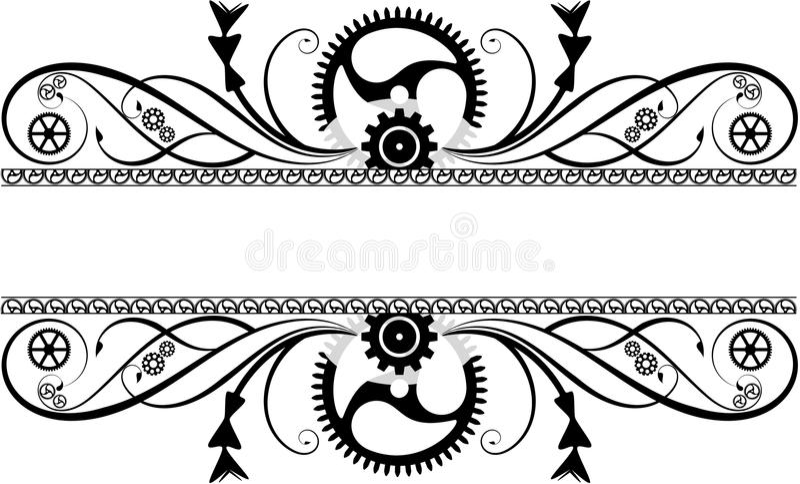 Flourish Steampunk бесплатная иллюстрация