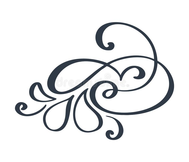 flourish swirl ornate decoration for pointed pen ink calligraphy rh dreamstime com flourish vector graphics flourishes vector png