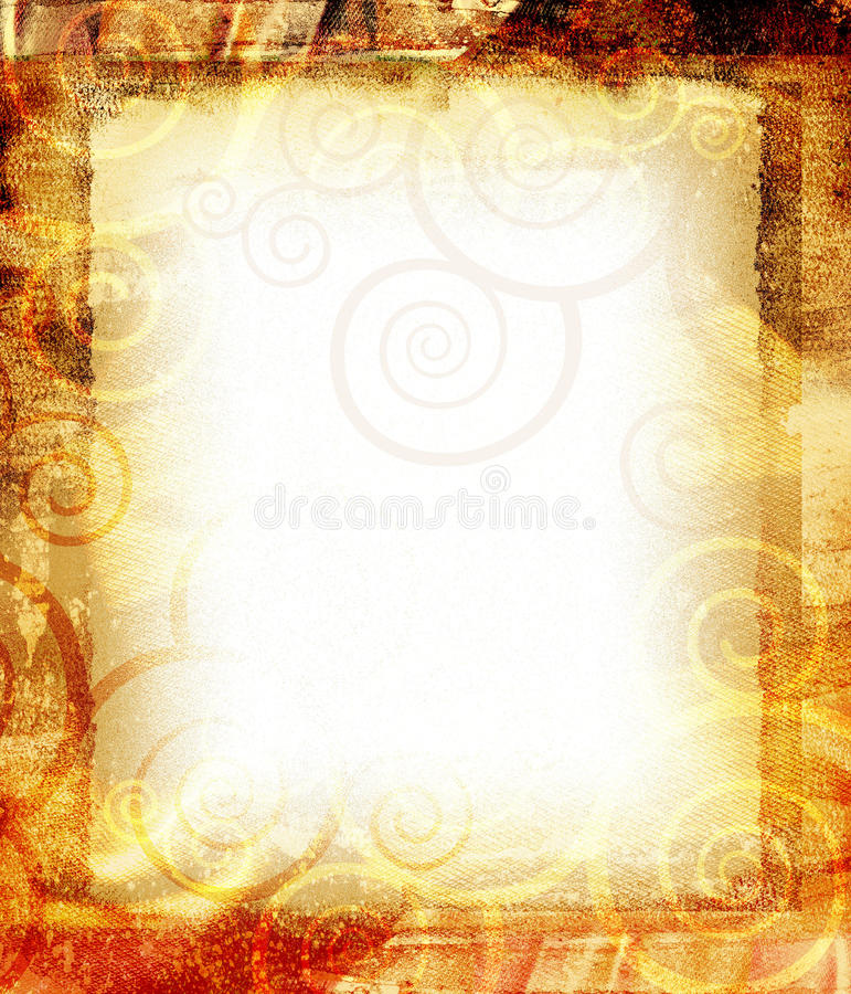 Flourish Texture. This is a grunge texture with spirals and floral design stock photo