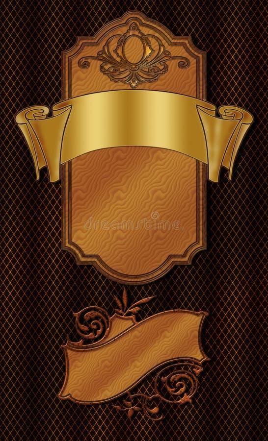 Download Flourish Wood Elements stock illustration. Illustration of flourish - 6774126