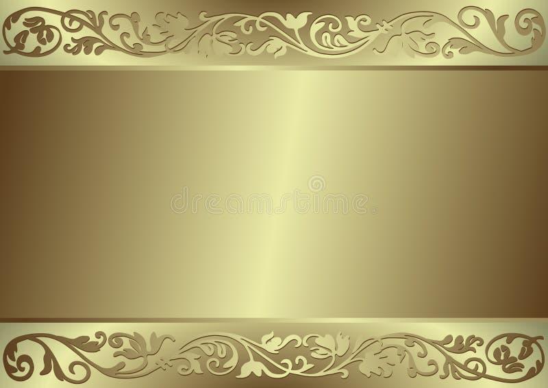 Flourishes e priorità bassa dell'oro royalty illustrazione gratis