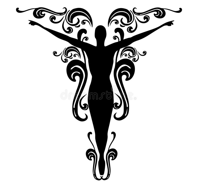 Download Flourishes Female Tattoo Design 3 Stock Illustration - Image: 4405309