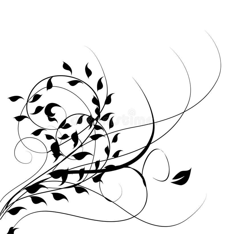 flourishes que remolinan stock de ilustración