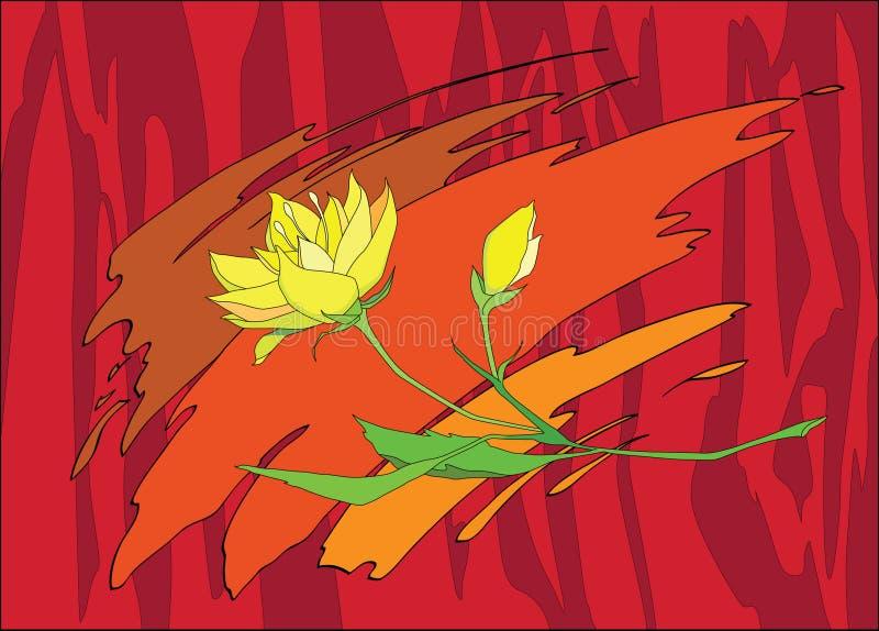 flover κίτρινος στοκ εικόνα