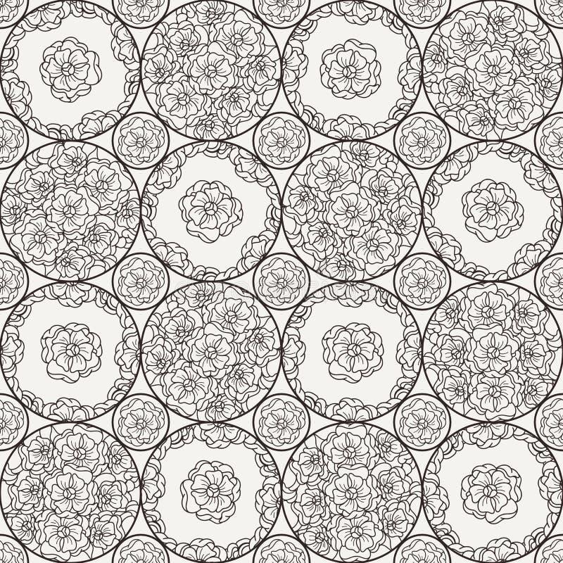 Flover tapet i stilen av Art Nouveau royaltyfri illustrationer